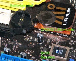 BIOS Reset bei jedem Einschalten? Batterie tauschen!